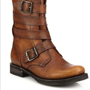 Frye Veronica Buckle Leather Boots